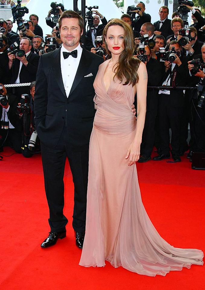 """All eyes were on Brad Pitt and Angelina Jolie at Wednesday's premiere of """"Inglourious Basterds"""" at the Cannes Film Festival. Mike Marsland/<a href=""""http://www.wireimage.com"""" target=""""new"""">WireImage.com</a> - May 20, 2009"""