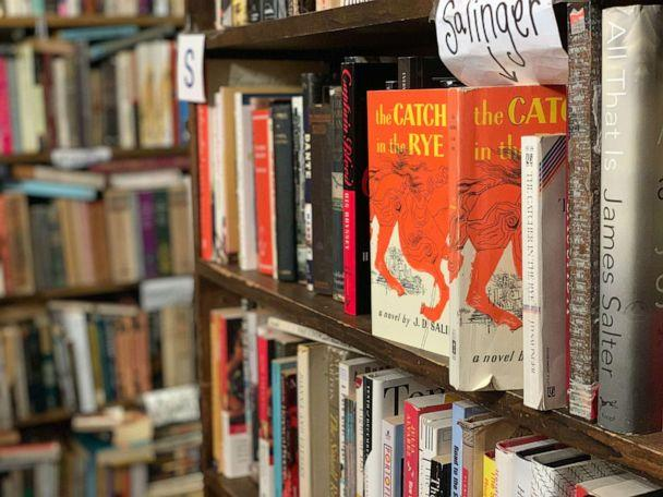 PHOTO: Copies of 'The Catcher in the Rye,' by J.D. Salinger, sits on the shelf at Capitol Hill Books in Washington, March 22, 2020. (Courtesy Kyle Burk)