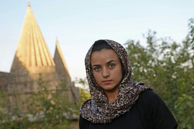 Yazidi woman Ashwaq Haji, 19, sought refuge in Germany from the jihadist she says held her as a sex slave but fled back to Iraq in shock after running into him in a German supermarket earlier this year