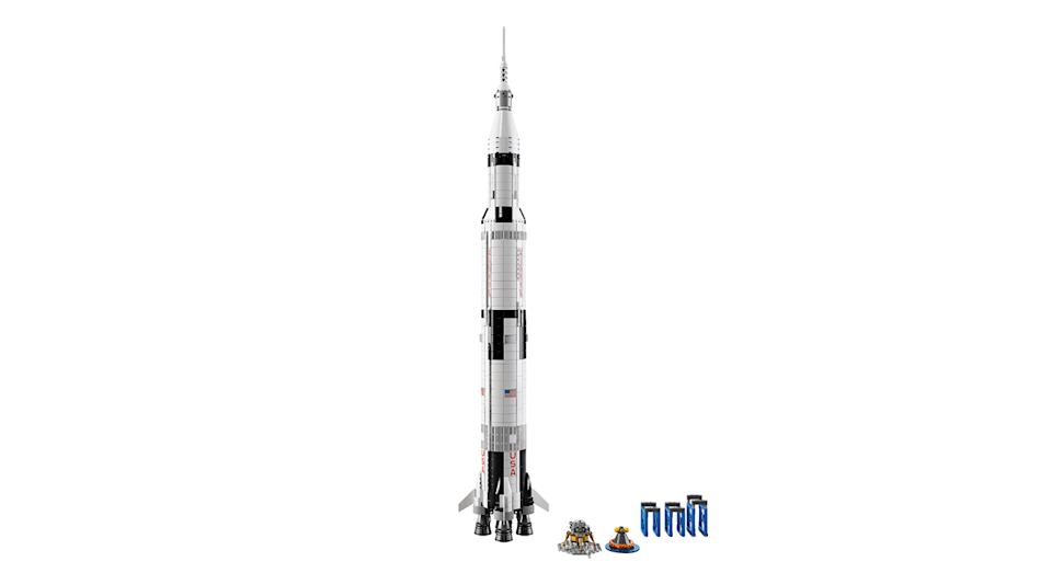 "This meter-high model of NASA's Apollo Saturn V with removable rockets is an out of this world present for any space superfan. Suitable for ages 14+.<a href=""https://fave.co/2nWSGLq"" rel=""nofollow noopener"" target=""_blank"" data-ylk=""slk:Shop here"" class=""link rapid-noclick-resp"">Shop here</a>."