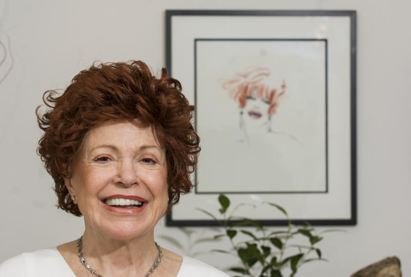 Portrait of English Jazz singer Annie Ross as she poses in her Manhattan apartment, New York, New York, September 27, 2005. The picture was taken as part of a portrait session for Downbeat Magazine. (Photo by Jack Vartoogian/Getty Images)