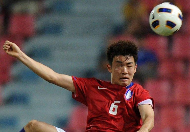 South Korean national team defender Yun Suk-Young, pictured in action on January 15, 2012 in Bangkok