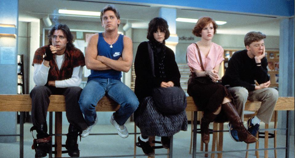 """The Breakfast Club"" stars Jude Nelson, Emilio Estevez, Ally Sheedy, Molly Ringwald and Anthony Michael Hall. (Photo: Everett Collection)"