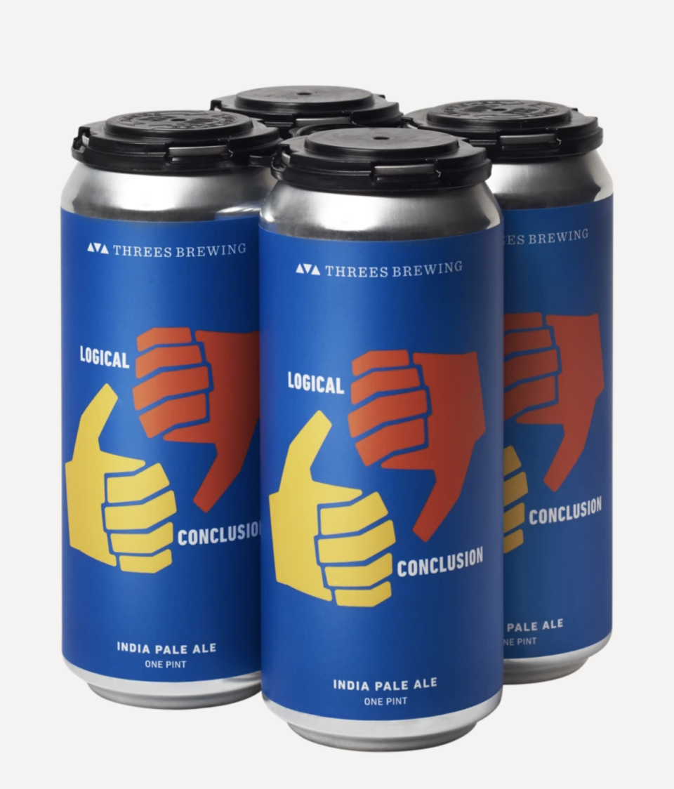 """<p><strong>Three's Brewing</strong></p><p>drizly.com</p><p><strong>$20.50</strong></p><p><a href=""""https://go.redirectingat.com?id=74968X1596630&url=https%3A%2F%2Fdrizly.com%2Fbeer%2Fale%2Fipa%2Fthrees-brewing-logical-conclusion-ipa%2Fp90452&sref=https%3A%2F%2Fwww.goodhousekeeping.com%2Ffood-products%2Fg33010627%2Fbest-beer-brands%2F"""" rel=""""nofollow noopener"""" target=""""_blank"""" data-ylk=""""slk:Shop Now"""" class=""""link rapid-noclick-resp"""">Shop Now</a></p><p>This is a juicy treat with flavors of white peach and citrus. It is creamy and smooth with only a touch of bitterness making it both great for sipping solo or with some grub. </p>"""