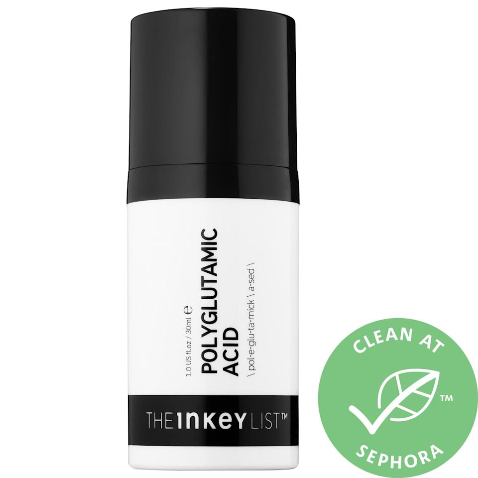 "<p><a href=""https://www.popsugar.com/buy/Inkey-List-Polyglutamic-Acid-Hydrating-Serum-582095?p_name=The%20Inkey%20List%20Polyglutamic%20Acid%20Hydrating%20Serum&retailer=sephora.com&pid=582095&price=15&evar1=bella%3Aus&evar9=47550611&evar98=https%3A%2F%2Fwww.popsugar.com%2Fbeauty%2Fphoto-gallery%2F47550611%2Fimage%2F47550623%2FInkey-List-Polyglutamic-Acid-Hydrating-Serum&list1=sephora%2Cthe%20inkey%20list&prop13=mobile&pdata=1"" class=""link rapid-noclick-resp"" rel=""nofollow noopener"" target=""_blank"" data-ylk=""slk:The Inkey List Polyglutamic Acid Hydrating Serum"">The Inkey List Polyglutamic Acid Hydrating Serum</a> ($15) works well as a primer as it covers skin with a thin film that locks in moisture and smoothes the surface (but still lets oxygen through).</p>"