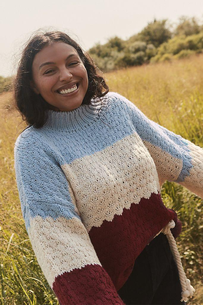 """<h2>Nell Colorblocked Sweater</h2><br>Available in standard and plus sizes, this textured, color-blocked sweater contains an unexpected combination of hues that are surprisingly fall-ready.<br><br><strong>Anthropologie</strong> Nell Colorblocked Sweater, $, available at <a href=""""https://go.skimresources.com/?id=30283X879131&url=https%3A%2F%2Fwww.anthropologie.com%2Fshop%2Fnell-colorblocked-sweater%3Fcategory%3Dtops-sweaters%26color%3D049%26type%3DPLUS%26quantity%3D1"""" rel=""""nofollow noopener"""" target=""""_blank"""" data-ylk=""""slk:Anthropologie"""" class=""""link rapid-noclick-resp"""">Anthropologie</a>"""