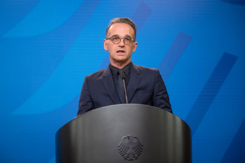 German Foreign Minister Maas addresses media statement in Berlin