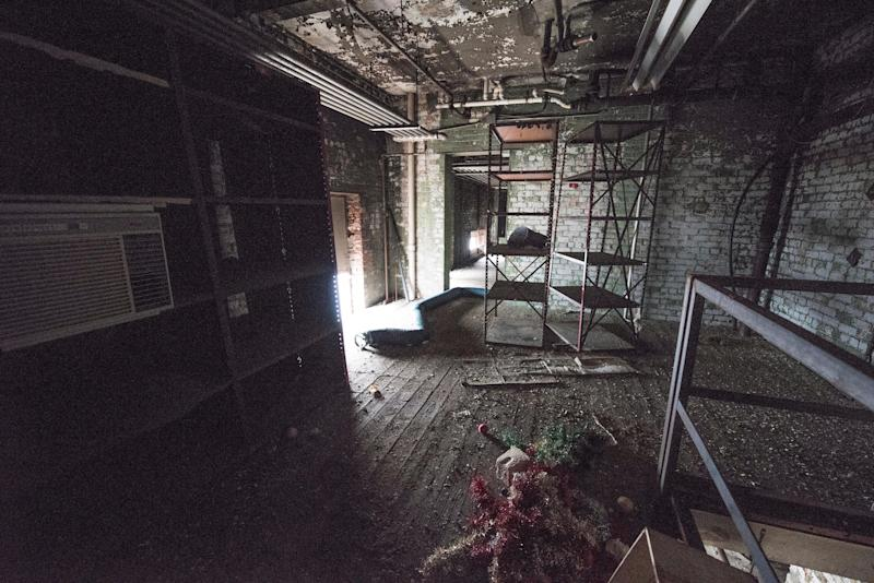 Various rooms sit unused in the Electric Works compound.