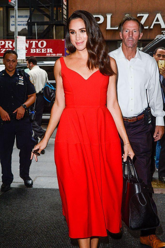 <p>A few months earlier, Meghan sported the color to a <em>Today</em> show taping in New York City. Coincidence? I think not! </p>