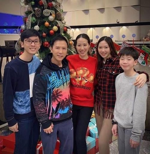 Donnie has three children, two of them with model Cissy Wang