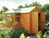 """<p>And the shed trends don't stop there... According to Posh Shed, <a rel=""""nofollow noopener"""" href=""""http://www.housebeautiful.co.uk/garden/a1940/repurposing-old-garden-shed/"""" target=""""_blank"""" data-ylk=""""slk:multi-use sheds"""" class=""""link rapid-noclick-resp"""">multi-use sheds</a> are also growing in popularity. """"A shed isn't just a place for storing tools anymore,"""" Frost explains. """"The she-shed has been a big trend in the past few years and we're now seeing people using sheds to serve a more practical functional space. We've had some fantastic projects where we've created half greenhouse/half shed – the greenshed if you will – to help people maximise their available space.""""</p><p><strong><em>Pictured: The Corner Garden Potting Shed (and mini Greenhouse) by Rowlinson, </em></strong><a rel=""""nofollow noopener"""" href=""""https://www.cuckooland.com/"""" target=""""_blank"""" data-ylk=""""slk:Cuckooland.com"""" class=""""link rapid-noclick-resp""""><strong><em>Cuckooland.com </em></strong></a></p>"""