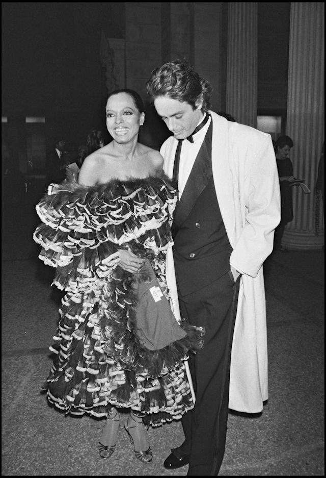 """<p>""""Eighteenth-Century Women"""" was the theme for 1981's Met Gala. Known for her daring Met Gala looks, <a href=""""https://www.crfashionbook.com/celebrity/g19592739/why-diana-ross-is-the-ultimate-style-icon/"""" rel=""""nofollow noopener"""" target=""""_blank"""" data-ylk=""""slk:Diana Ross"""" class=""""link rapid-noclick-resp"""">Diana Ross</a> showed up that year in a off-the-shoulder dress made completely out of feathers. It was an intensely glamorous look carried out perfectly by the disco star. </p>"""