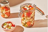 """<p>This spicy pickled condiment compliments sandwiches, salads, and even <a href=""""https://www.delish.com/cooking/recipe-ideas/a29252178/classic-vodka-martini-recipe/"""" rel=""""nofollow noopener"""" target=""""_blank"""" data-ylk=""""slk:martinis"""" class=""""link rapid-noclick-resp"""">martinis</a>.</p><p>Get the recipe from <a href=""""https://www.delish.com/cooking/recipe-ideas/a35569431/giardiniera-recipe/"""" rel=""""nofollow noopener"""" target=""""_blank"""" data-ylk=""""slk:Delish"""" class=""""link rapid-noclick-resp"""">Delish</a>.</p>"""