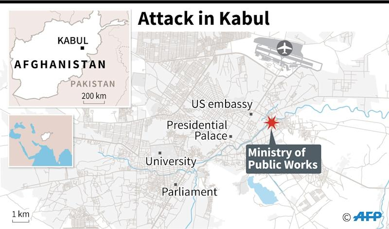Attack on Afghan govt building in Kabul leaves 43 dead