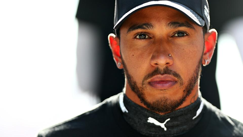 Lewis Hamilton is pictured at the Russian F1 GP.