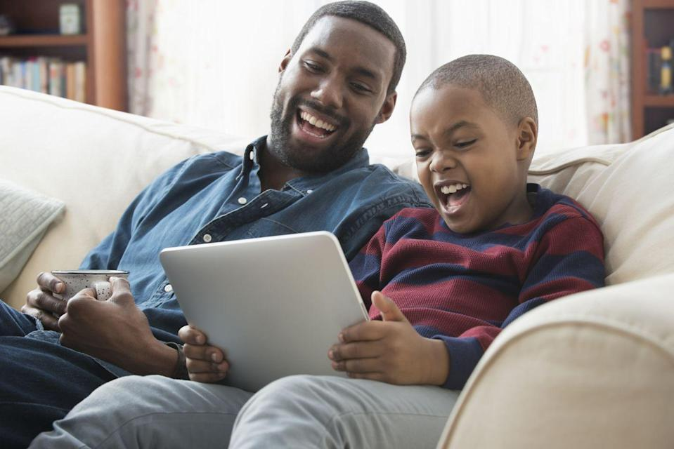 """<p>Professor Erica Scharrer, PhD, of the University of Massachusetts suggest that """"simply watching the child's favorite TV shows, movies, etc. together with the child can help the child feel supported and perhaps even empowered."""" A few minutes scrolling through TikTok might make you feel like it's your content kryptonite, but you can power through! In turn, your child might summon the strength to sit through <a href=""""https://www.redbookmag.com/life/g31249839/new-tv-shows/"""" rel=""""nofollow noopener"""" target=""""_blank"""" data-ylk=""""slk:something you enjoy"""" class=""""link rapid-noclick-resp"""">something you enjoy</a> later.</p>"""