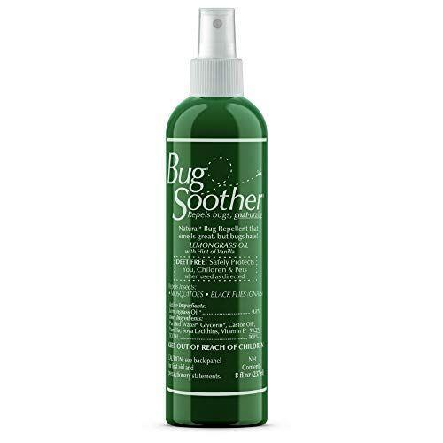 """<p><strong>Bug Soother</strong></p><p>amazon.com</p><p><strong>$9.96</strong></p><p><a href=""""https://www.amazon.com/dp/B00E3C1QJ0?tag=syn-yahoo-20&ascsubtag=%5Bartid%7C2164.g.37103733%5Bsrc%7Cyahoo-us"""" rel=""""nofollow noopener"""" target=""""_blank"""" data-ylk=""""slk:Shop Now"""" class=""""link rapid-noclick-resp"""">Shop Now</a></p><p>On the hunt for a DEET-free, essential oil-based option? Try this gentle yet effective bug spray. It has a subtle lemon and vanilla scent and is powered by lemongrass oil.</p>"""