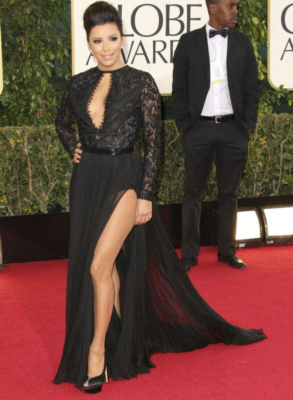 Eva Longoria Faces Embarrassing Wardrobe Malfunction As Pucci Gown 'Nearly Flashes Lady Bits At Golden Globes'