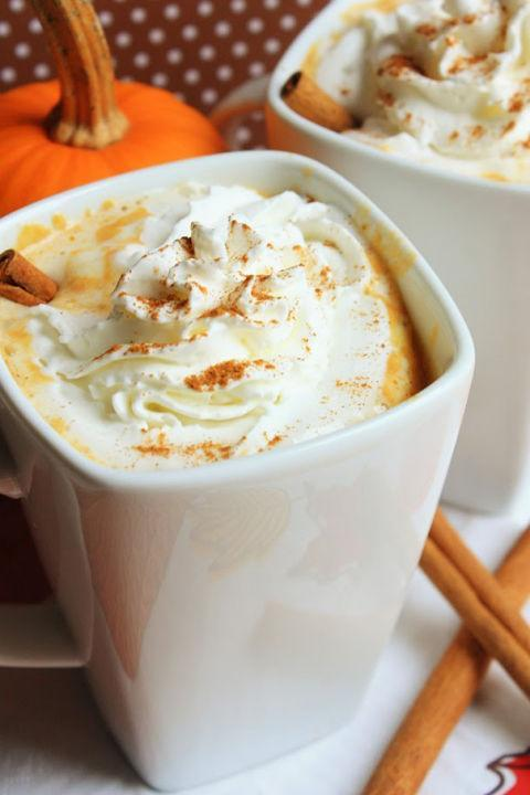 "<p>Yummy <a href=""http://www.drozthegoodlife.com/healthy-food-nutrition/healthy-recipe-ideas/tips/g565/fall-pumpkin-recipes/"" rel=""nofollow noopener"" target=""_blank"" data-ylk=""slk:pumpkin treats"" class=""link rapid-noclick-resp"">pumpkin treats</a> are still in season. Snuggle up with a cup of this homemade hot chocolate and your favorite blanket.</p><p>Grab the recipe from <a href=""http://www.mostlyhomemademom.com/2014/10/pumpkin-white-hot-chocolate.html"" rel=""nofollow noopener"" target=""_blank"" data-ylk=""slk:Mostly Homemade Mom"" class=""link rapid-noclick-resp"">Mostly Homemade Mom</a>.</p>"