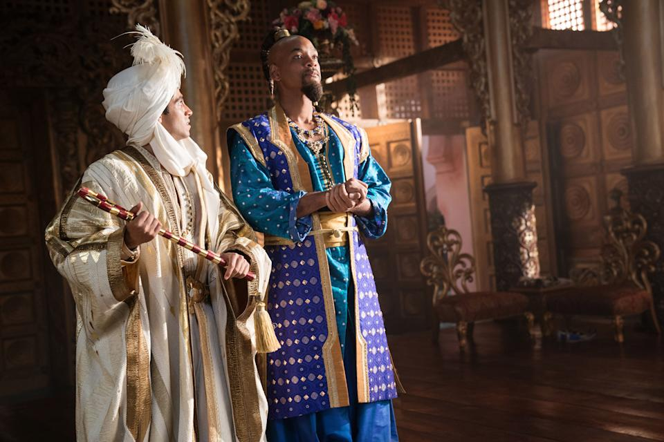 Mena Massoud is Aladdin and Will Smith is Genie in Disney's live-action ALADDIN, directed by Guy Ritchie. (Disney)