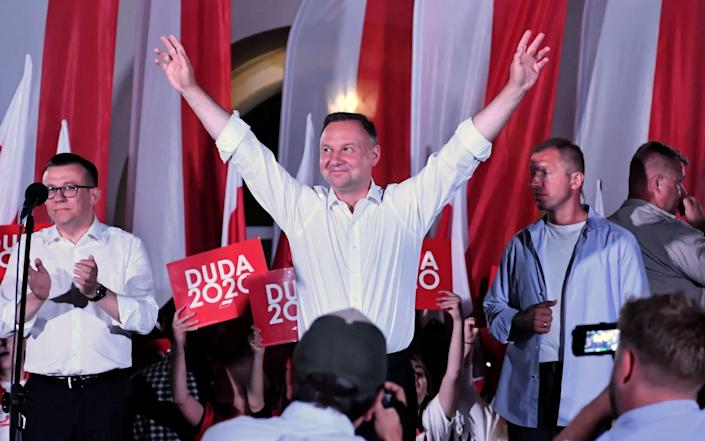 Polish President and candidate for Poland's president of main rulling party Law and Justice (PiS) Andrzej Duda - Shutterstock