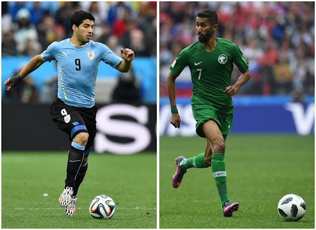 Saudi Arabia will face Luis Suarez and Uruguay in its next match. (Getty)
