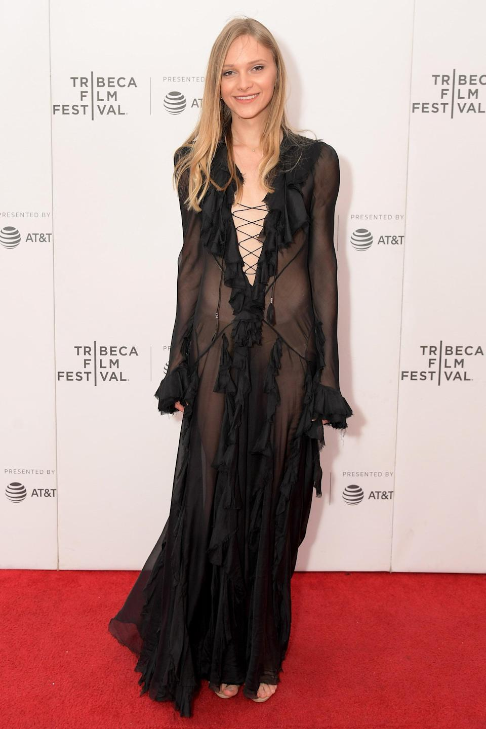 <p>The Israeli actress and model is Ukrainian-born and has walked runways such as Marc Jacobs, Diesel, and Alon Livné, also participating in campaign work and starring in films such as 2018's <b>Flawless</b>.</p>