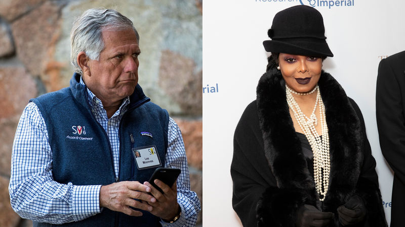 Leslie Moonves attends annual Allen & Company Sun Valley Conference, July 5, 2016; Janet Jackson attends Gatsby Gala 2020 on January 30, 2020.