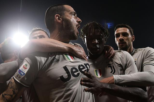Juventus' Leonardo Bonucci was heavily criticised after his comments about teammate Moise Kean (Getty)