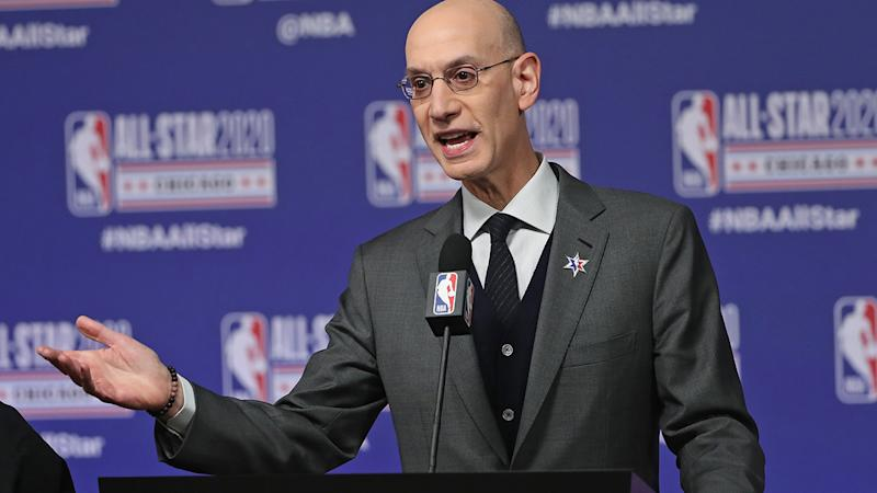 NBA Commissioner Adam Silver, pictured here speaking to the media.