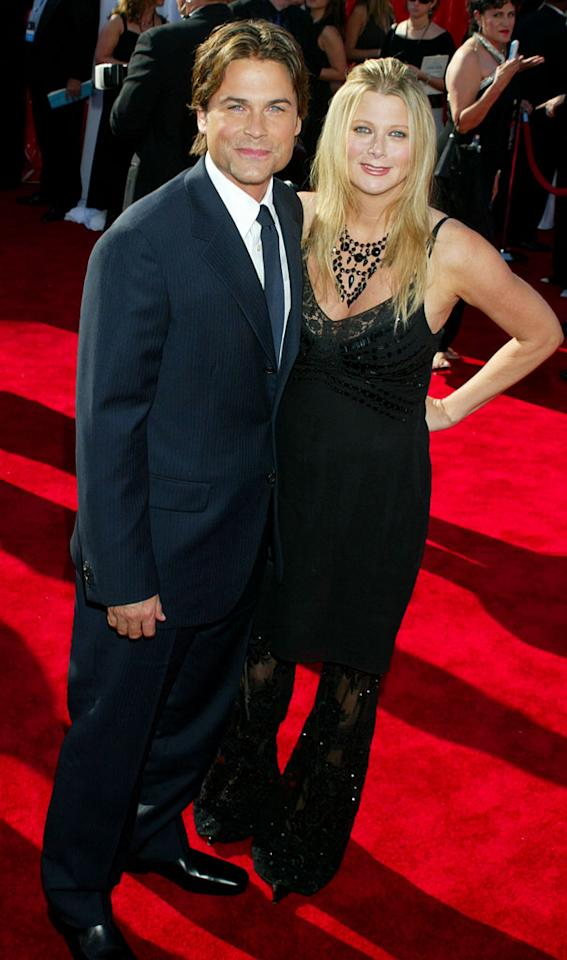 Rob Lowe and wife at The 55th Annual Primetime Emmy Awards.