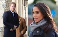 <p>The couple were first spotted in public together in London. According to local salespeople, Harry and Meghan visited a Christmas tree stall in Battersea Park, walking away with a six-foot Nordmann Fir.<br><i>[Photo: Getty]</i> </p>