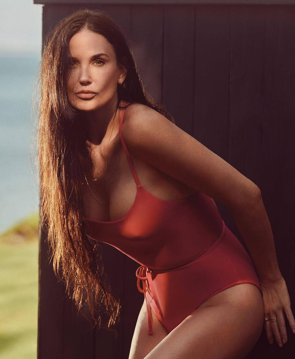 Demi Moore wearing the Filji One Piece by Andie Swim (Image via Andie/Photo by Cass Bird)