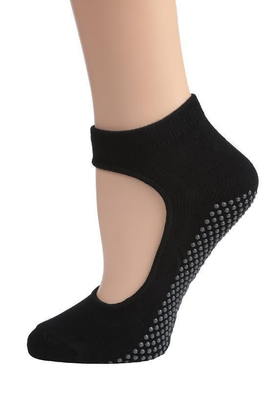 """<h3>Non-Slip Yoga Ankle Socks</h3> <br>If you find yourself constantly readjusting your position during a downward-facing dog, investing in a pair of grippy socks can help you move through your flow with total stability.<br><br><strong>Bella</strong> Womens Yoga Socks Mary Jane with Grips S/M Non Slip Ankle Socks (Black), $, available at <a href=""""https://go.skimresources.com/?id=30283X879131&url=https%3A%2F%2Fwww.walmart.com%2Fip%2FWomens-Yoga-Socks-Mary-Jane-with-Grips-S-M-Non-Slip-Ankle-Socks-Black%2F489245655"""" rel=""""nofollow noopener"""" target=""""_blank"""" data-ylk=""""slk:Walmart"""" class=""""link rapid-noclick-resp"""">Walmart</a><br>"""