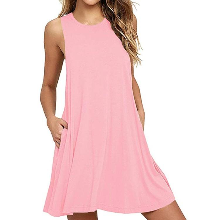 BISHUIGE Women Summer Casual T Shirt Dresses Beach Cover up. (Photo: Amazon)