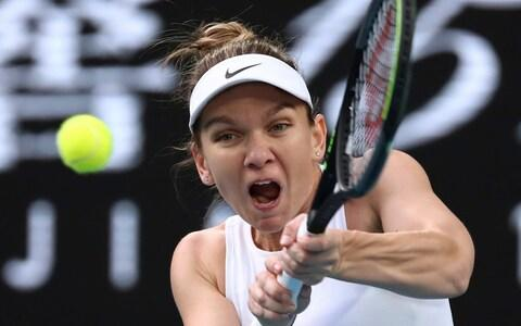 There was no letting up from Halep against Dart - Credit: AP