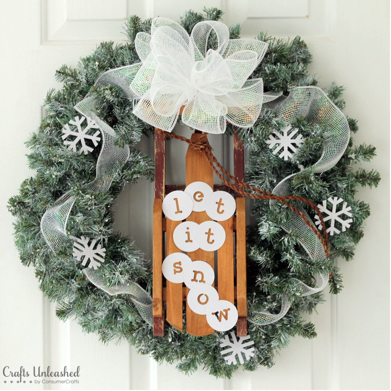 """<p>Hoping for a beautiful snowy season this year? Make a winter wish by hanging this charming wreath on your front door, and we bet your snow day dreams will come true.</p><p><strong>Get the tutorial at <a href=""""http://blog.consumercrafts.com/decor-home/snow-diy-winter-wreath/"""" rel=""""nofollow noopener"""" target=""""_blank"""" data-ylk=""""slk:Crafts Unleashed"""" class=""""link rapid-noclick-resp"""">Crafts Unleashed</a>.</strong></p><p><strong><a class=""""link rapid-noclick-resp"""" href=""""https://www.amazon.com/Darice-Canadian-Artificial-Christmas-Wreath/dp/B003R2P9R2/?tag=syn-yahoo-20&ascsubtag=%5Bartid%7C10050.g.23489557%5Bsrc%7Cyahoo-us"""" rel=""""nofollow noopener"""" target=""""_blank"""" data-ylk=""""slk:SHOP WREATHS"""">SHOP WREATHS</a><br></strong></p>"""