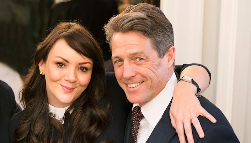 Hugh Grant and Martine McCutcheon in Red Nose Day Actually 2017