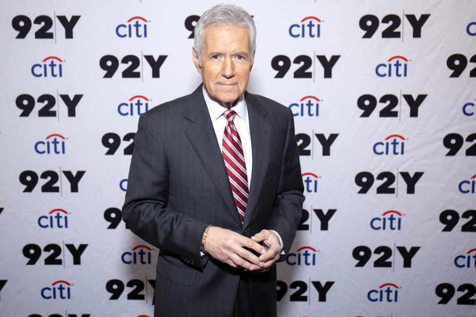 NEW YORK, NEW YORK - FEBRUARY 19: Alex Trebek attends 'Who is Alex Trebek? Celebrating 35 seasons of Jeopardy!' at 92nd Street Y on February 19, 2019 in New York City. (Photo by Santiago Felipe/Getty Images)