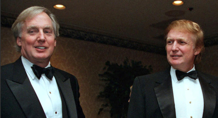 Robert Trump, left, with his brother Donald at an event in New York in 1999. (Diane Bondareff / AP file)