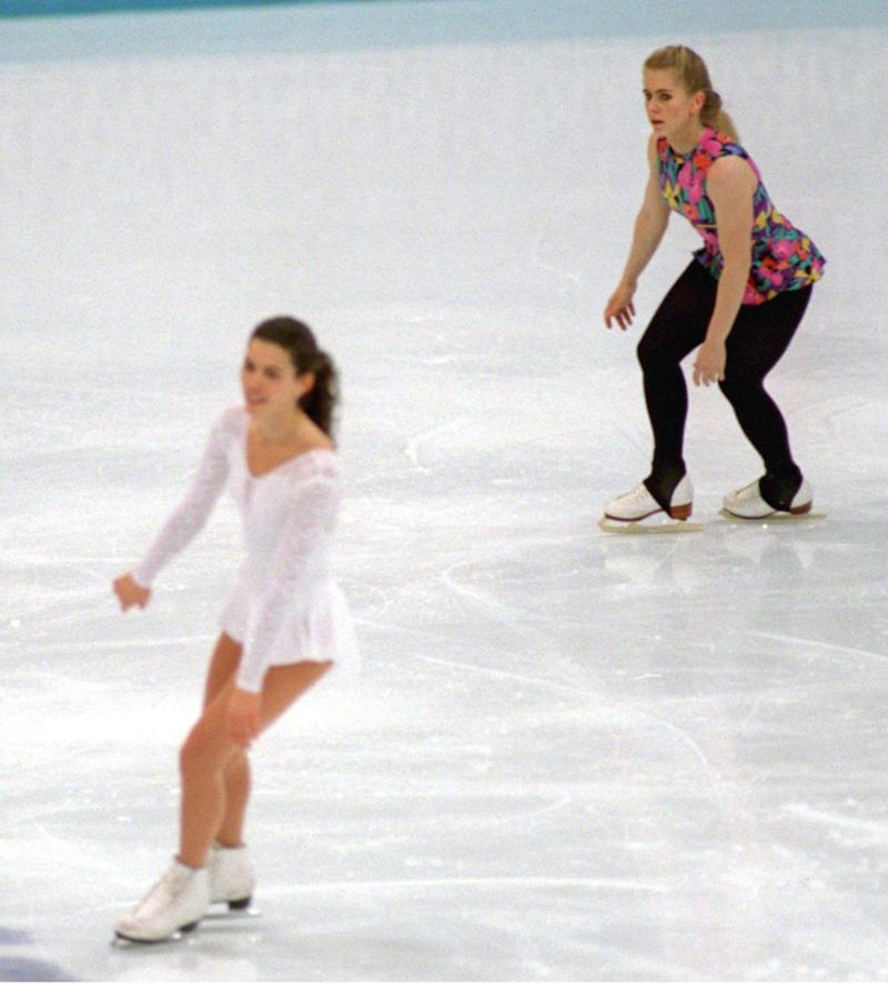 Tonya Harding's ex-hubby and former bodyguard planned the attack against Nancy Kerrigan, both seen here in 1993. Source: Getty