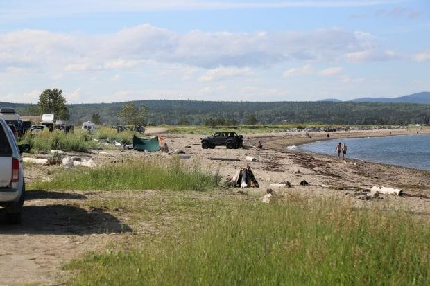 With travel to the U.S. and Maritimes banned last summer, many Quebecers flocked to the beaches of the Gaspé instead.  (Julia Page/CBC - image credit)