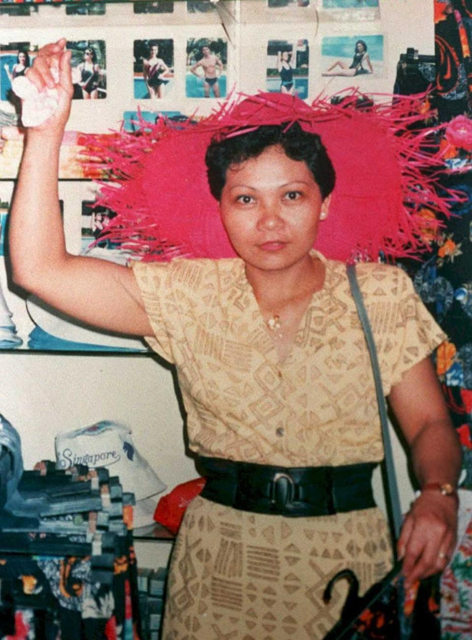 FILE PHOTO:  Filipina maid Flor Contemplacion, shown here in an undated photo, was hanged in Singapore, 17 March, according to a prison official.  Efforts by the Philippine government, including an appeal by President Fidel Ramos for clemency, were rejected by Singapore President Ong Teng Cheong. Contemplacion was found guilty by a Singapore court of murdering another maid and a four-year-old boy in 1991. (Photo: STR/AFP via Getty Images)