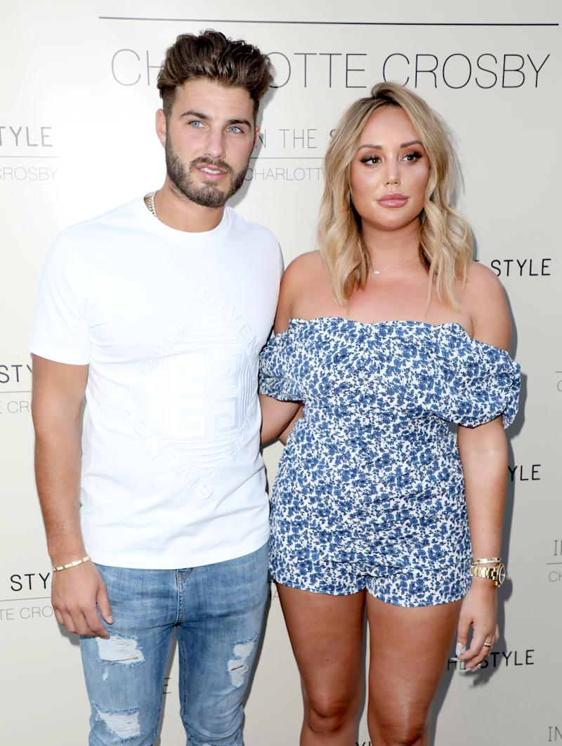 LONDON, UNITED KINGDOM - 2019/07/04: Joshua Ritchie and Charlotte Crosby attend the Charlotte Crosby In The Style Party at Nikki's Bar in London. (Photo by Brett Cove/SOPA Images/LightRocket via Getty Images)