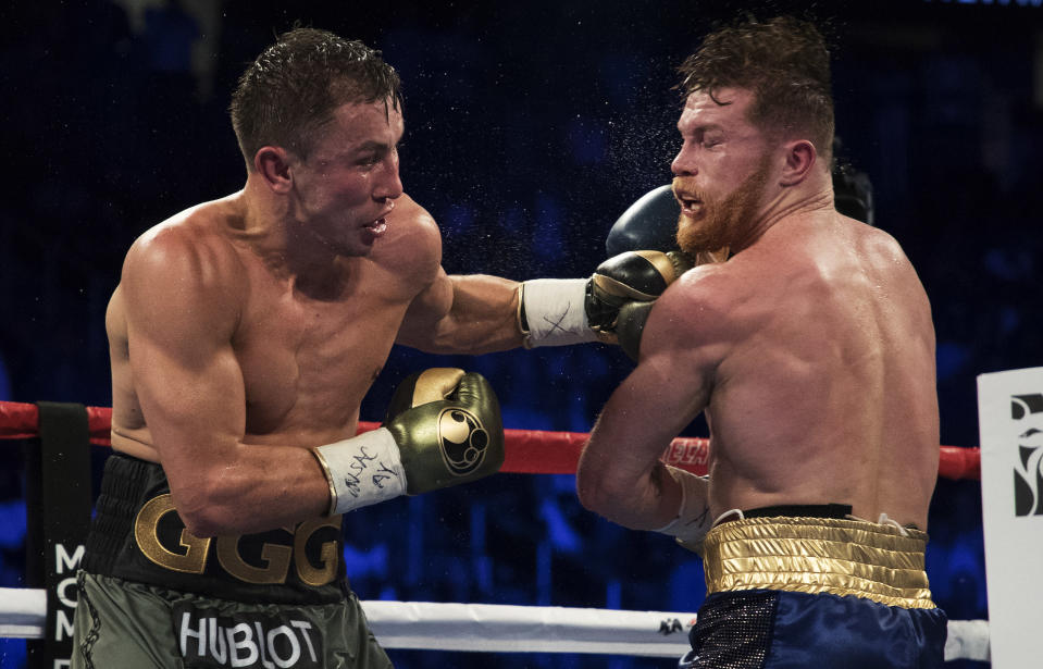 Gennady Golovkin has been throwing plenty of verbal jabs at Canelo Alvarez. (Getty Images)