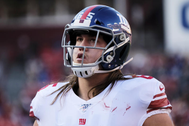 Giants sticking with Nick Gates at center as date with Aaron Donald looms