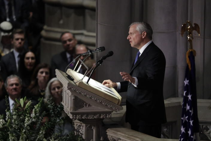 Presidential biographer Jon Meacham speaks during the State Funeral for former President George H.W. Bush at the National Cathedral, Wednesday, Dec. 5, 2018, in Washington. (Photo: Evan Vucci/AP)
