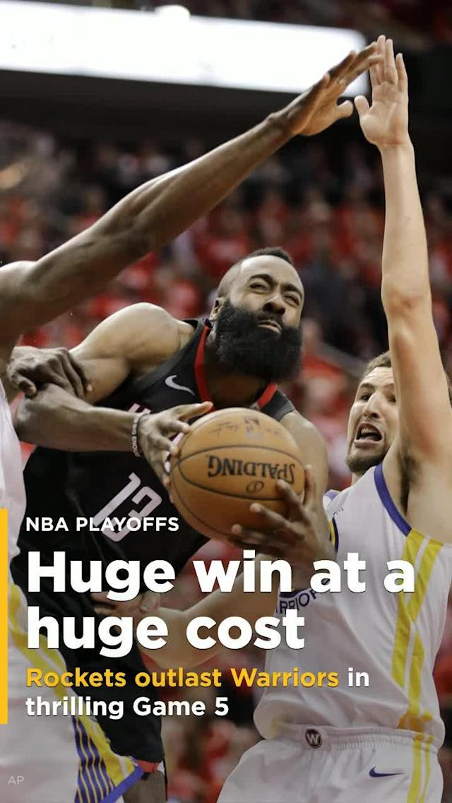 The Houston Rockets survived another wild finish to beat the Golden State Warriors, 98-94, in Game 5 of the Western Conference finals on Thursday night.