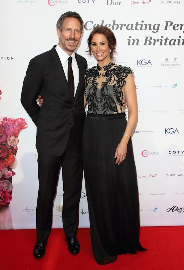 Andrea McLean and Nick Feeney are seen during the Fragrance Foundation Awards 2019 at The Brewery, Chiswell Street in London. (Photo by Keith Mayhew/SOPA Images/LightRocket via Getty Images)
