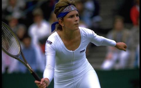Anne White's shiny catsuit at Wimbledon - Credit: Getty Images